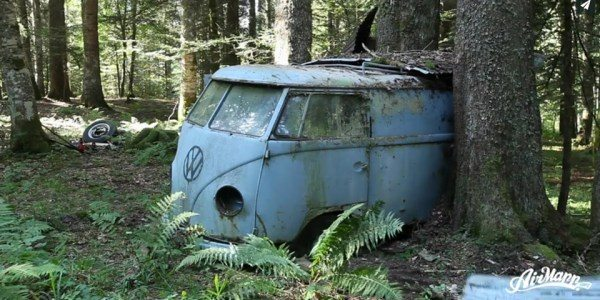 What were you doing in 1955? 1955 Volkswagen Van Rescued
